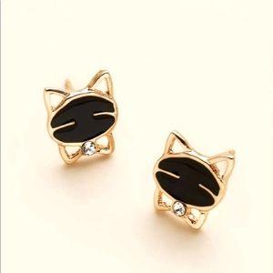 New Cartoon Cat Stud Earrings